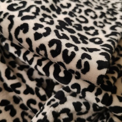 4 baby en kids Legging velours leopard