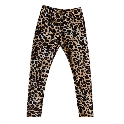 4 baby en kids Legging leopard brown