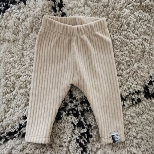 4 baby en kids Legging rib beige