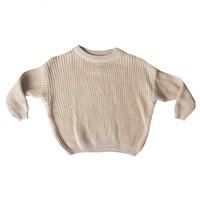Knit sweater creamy nude