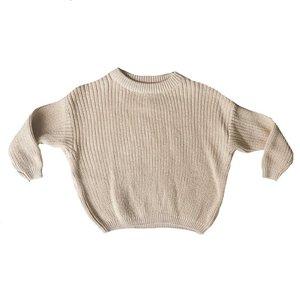 4 baby en kids Knit sweater creamy nude