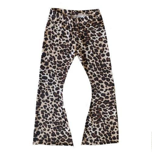 4 baby en kids Leopard brown flared