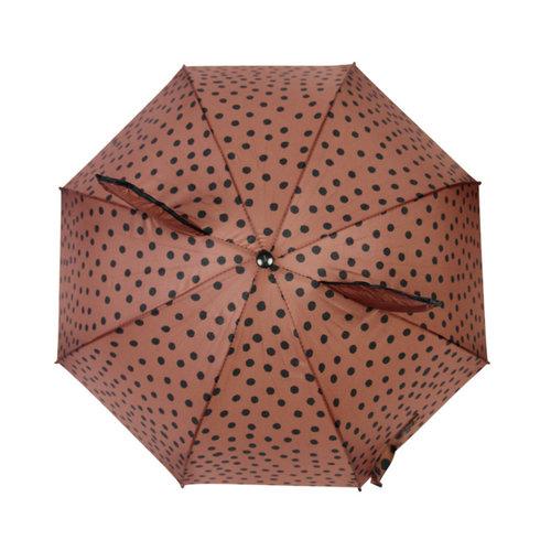Van Pauline Paraplu Brown/Pink dots