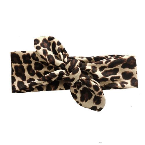 4 baby en kids Haarband leopard brown