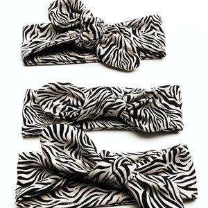 4 baby en kids Haarband zebra zand