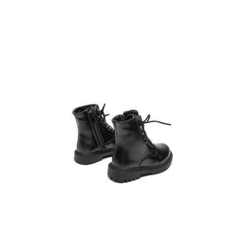 Zwarte matte boots