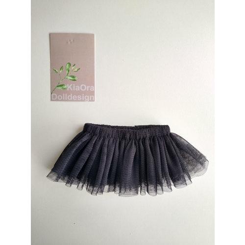 Kia Ora Doll Design Poppen tutu zwart