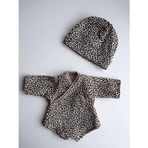 Kia Ora Doll Design Poppen romper leopard