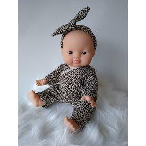 Kia Ora Doll Design Poppen speelpakje leopard zand