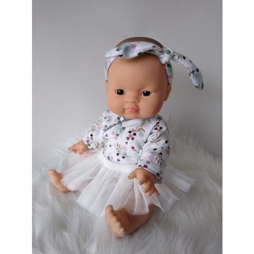 Kia Ora Doll Design Poppen tutu off white