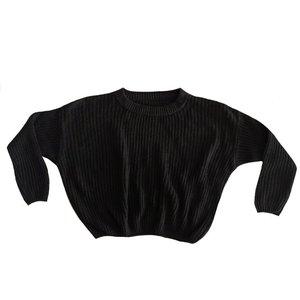 4 baby en kids Knit sweater black