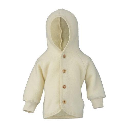 Engel Natur Hooded jasje wool natural