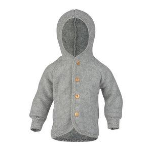 Engel Natur Hooded jasje wool light grey melange