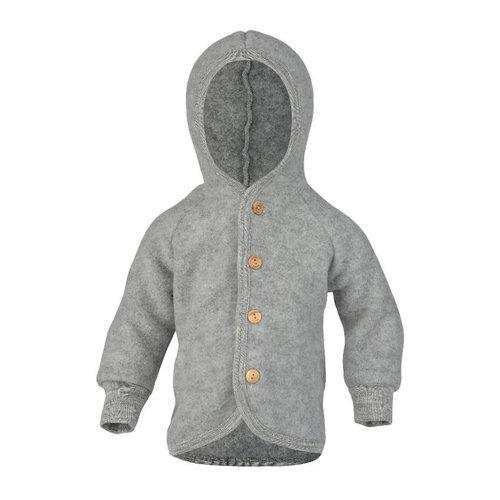 Engel Natur Hoodes jasje wool light grey melange