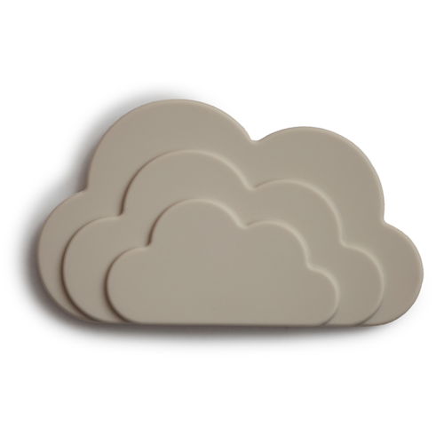 Mushie Bijtspeeltje cloud gray