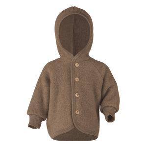 Engel Natur Hooded jasje wool walnuss melange