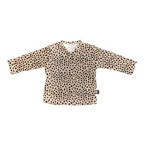 By Kels Overslag vestje cheetah zand