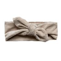 Haarband fijne rib zand