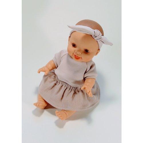 Kia Ora Doll Design Poppen rokje peony