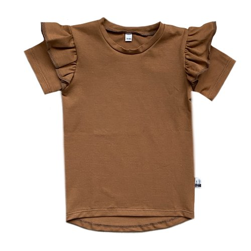 4 baby en kids Ruffled shirt roest