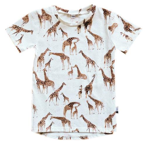 4 baby en kids Giraffe shirt