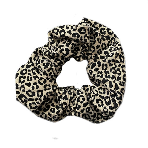 4 baby en kids Scrunchie leopard zand