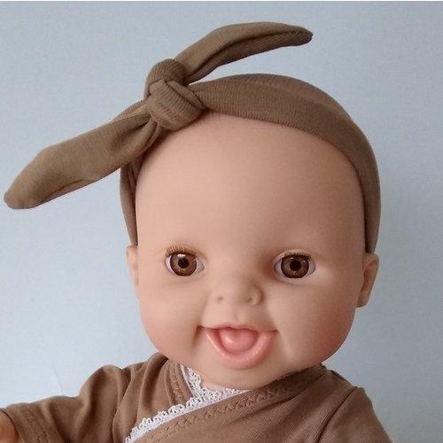 Kia Ora Doll Design Poppen haarbandje camel
