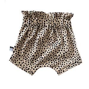 4 baby en kids Paperbag short cheetah dots
