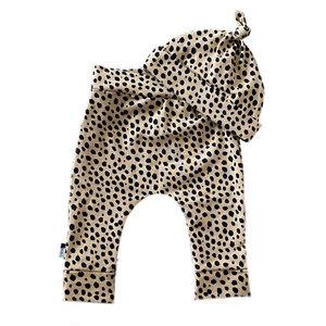 4 baby en kids Newborn setje cheetah dots