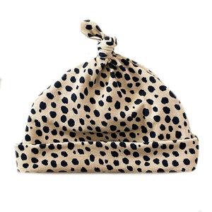 4 baby en kids Newborn mutsje cheetah dots