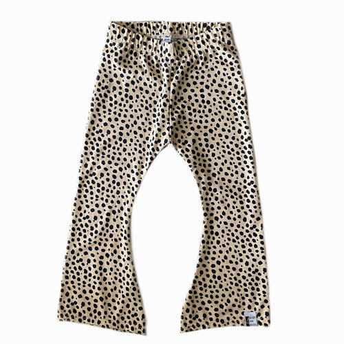 4 baby en kids Cheetah dots flared