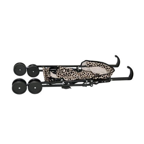 Van Pauline Speelgoed poppenbuggy black dots