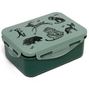 Petit Monkey  Lunchbox black animals Salie