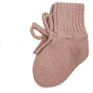 Petite Noé Merino wol booties old pink