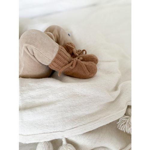 Petite Noé Merino wol booties brown