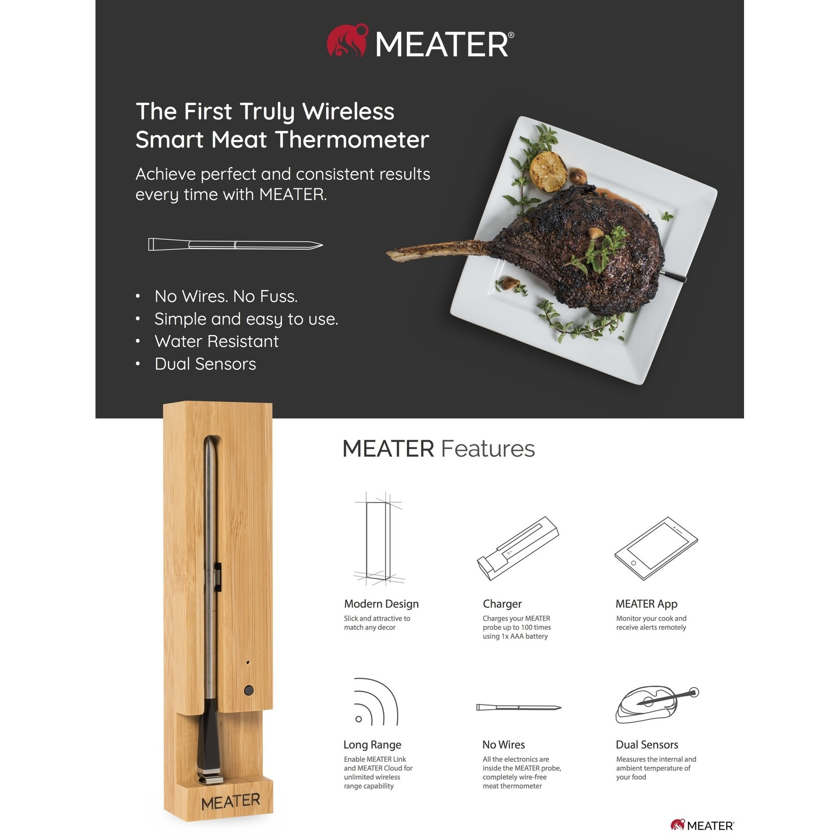 Meater Meater Draadloze Wireless Thermometer