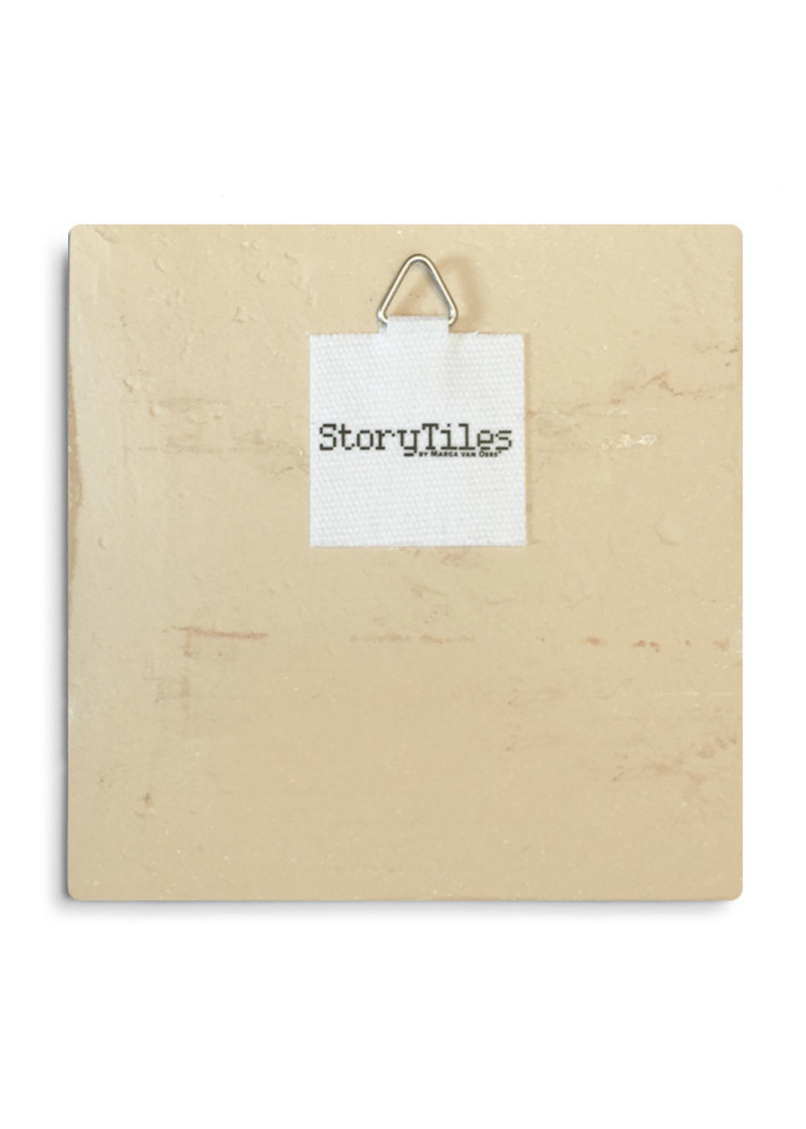 Storytiles Storytiles Achter de wolken schijnt de zon 13x13cm