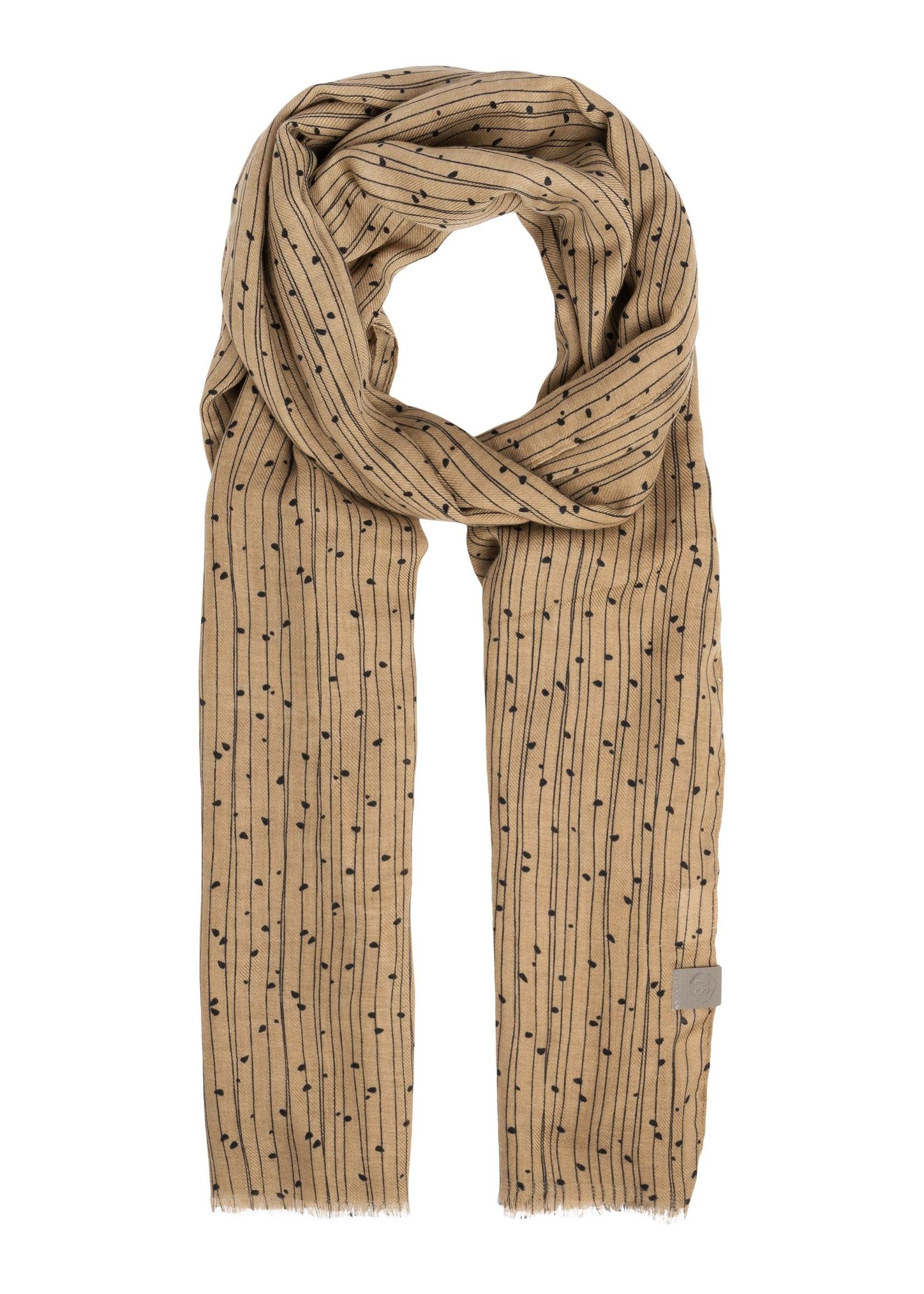 Zusss Zusss sjaal twijgenprint kaki