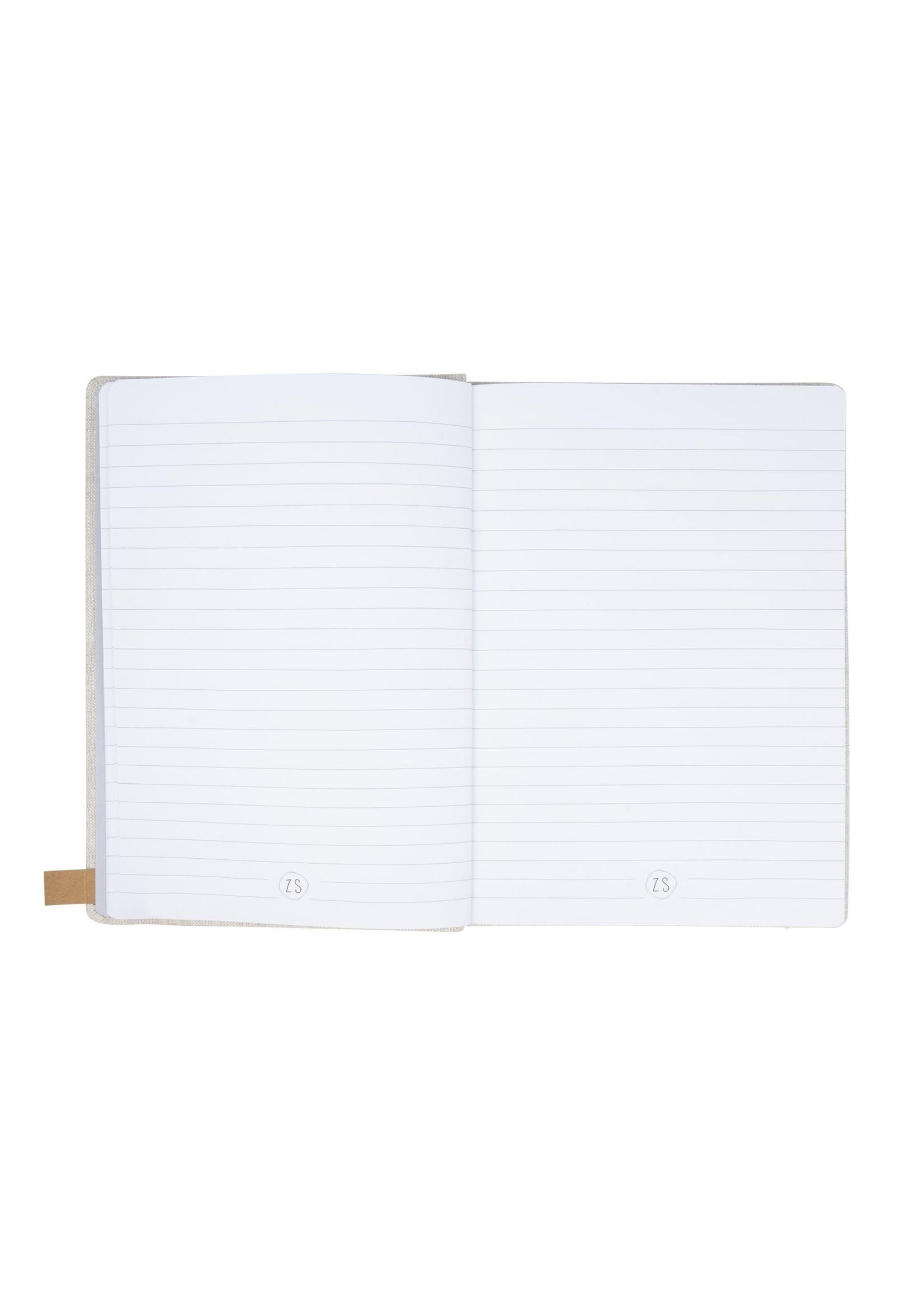 Zusss Notitieboek can I go linnen
