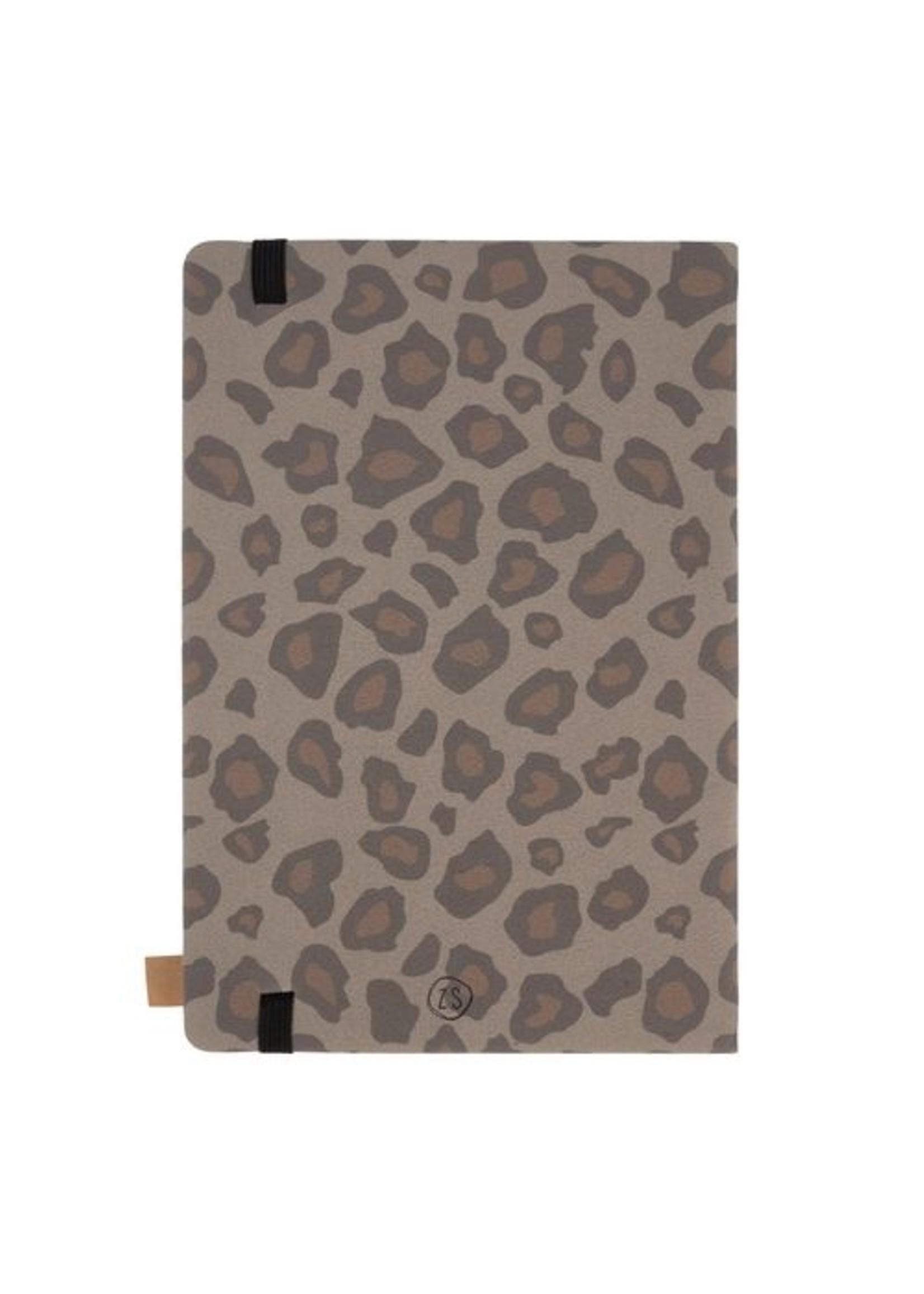 Zusss Notitieboek geniet leopard