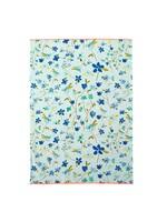 Rice Theedoek lichtblauwe bloemen