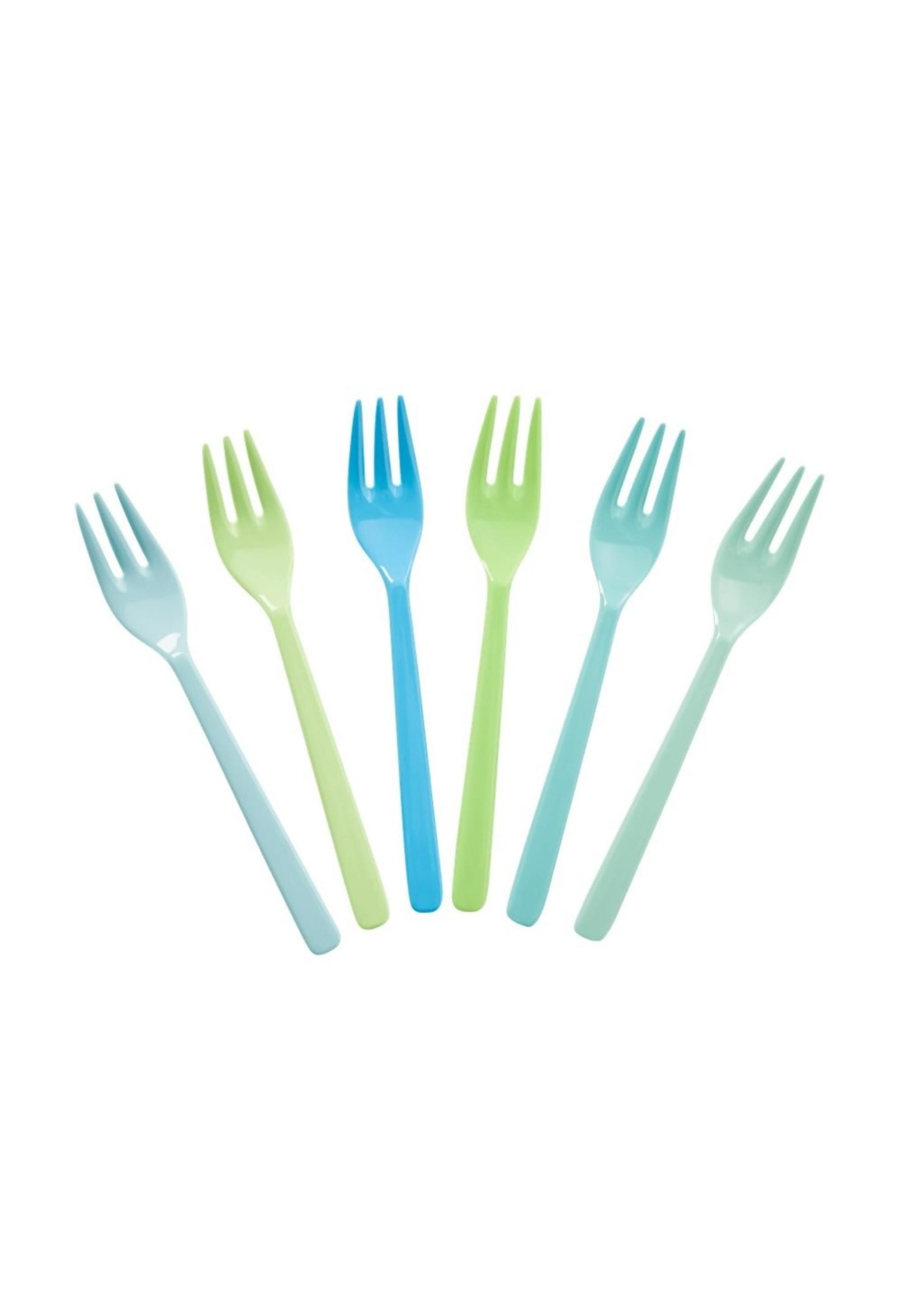 Rice Set blauwe vorkjes