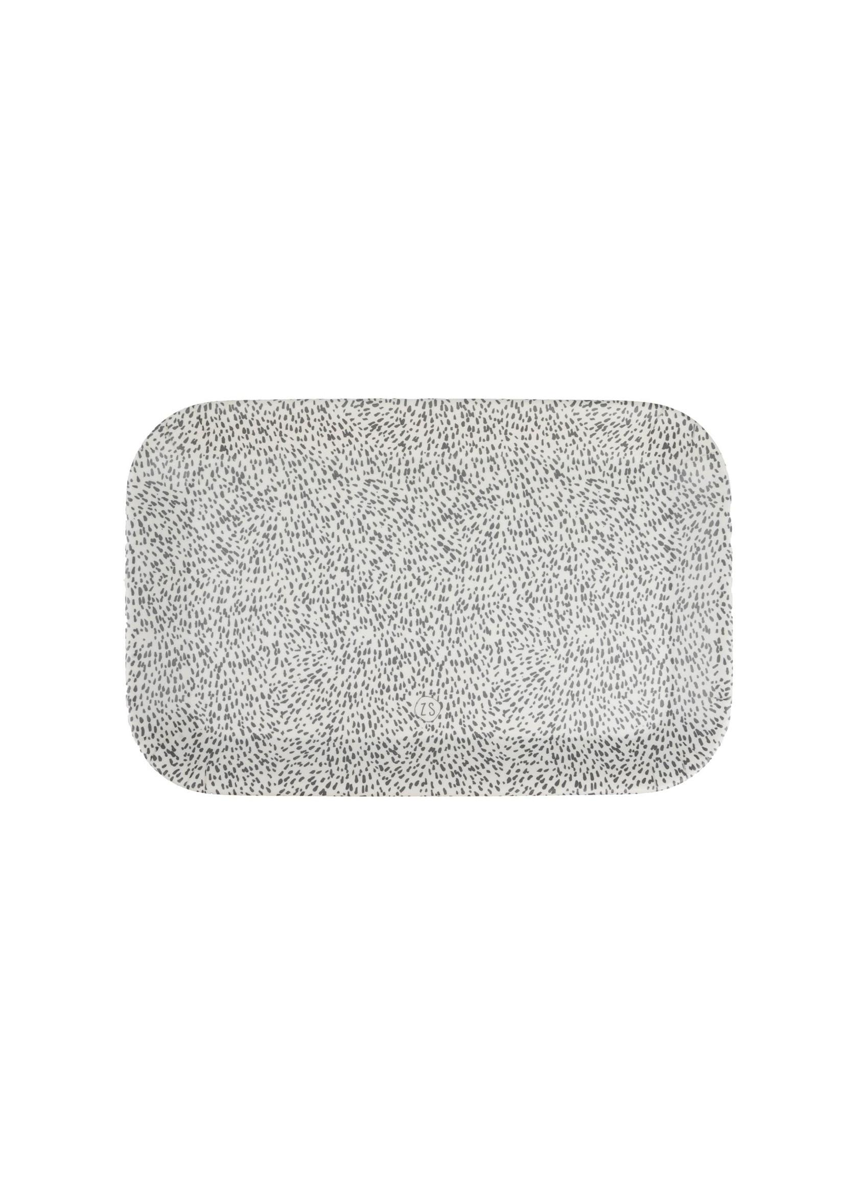 Zusss Melamine dienblad spikkels 29x19cm zand