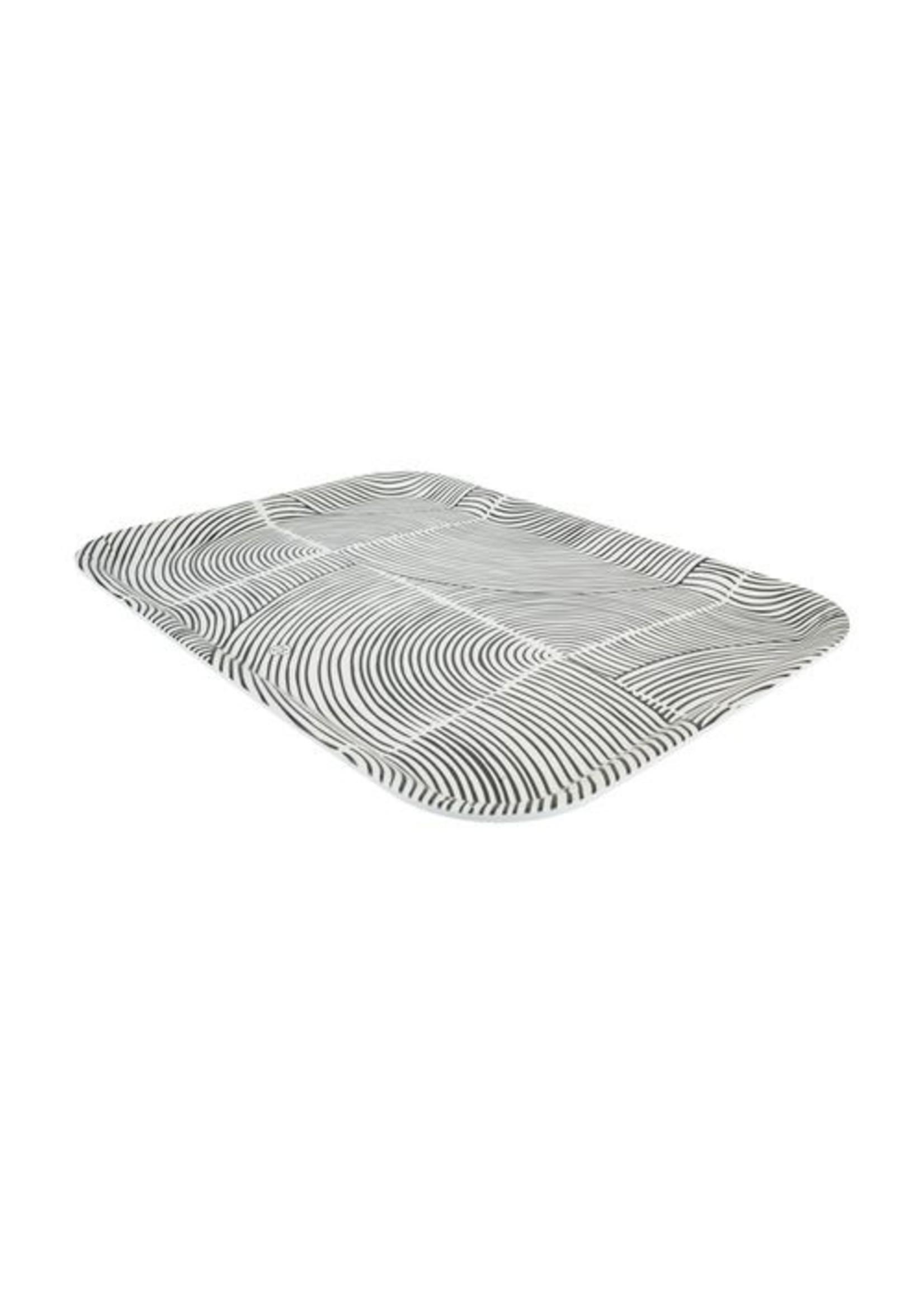 Zusss Melamine dienblad grafisch patroon 43x32cm zand