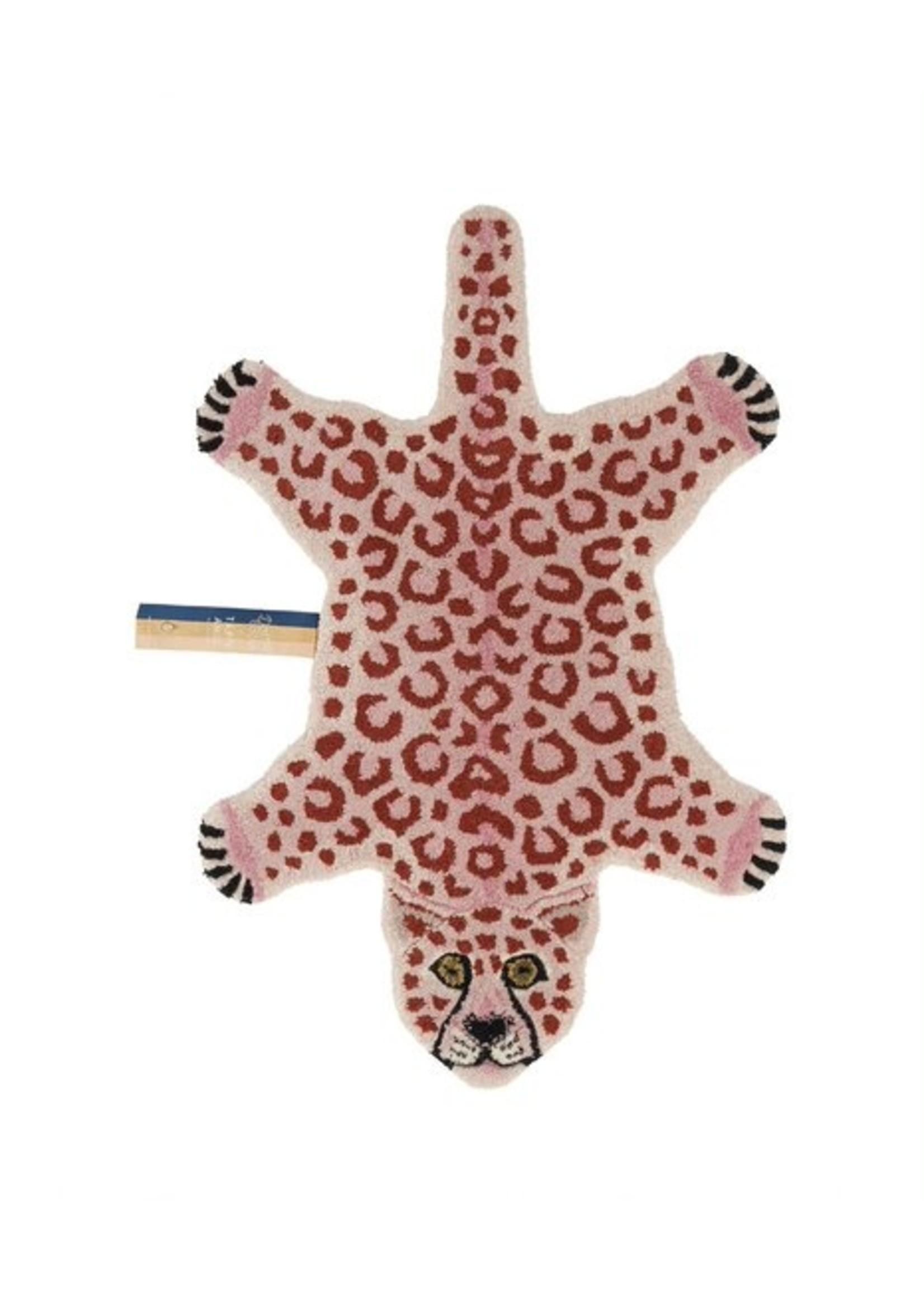 Doing Goods Pinky luipaard vloerkleed klein