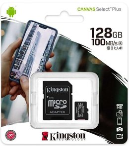 Kingston Canvas Select Plus 128GB Micro SSD