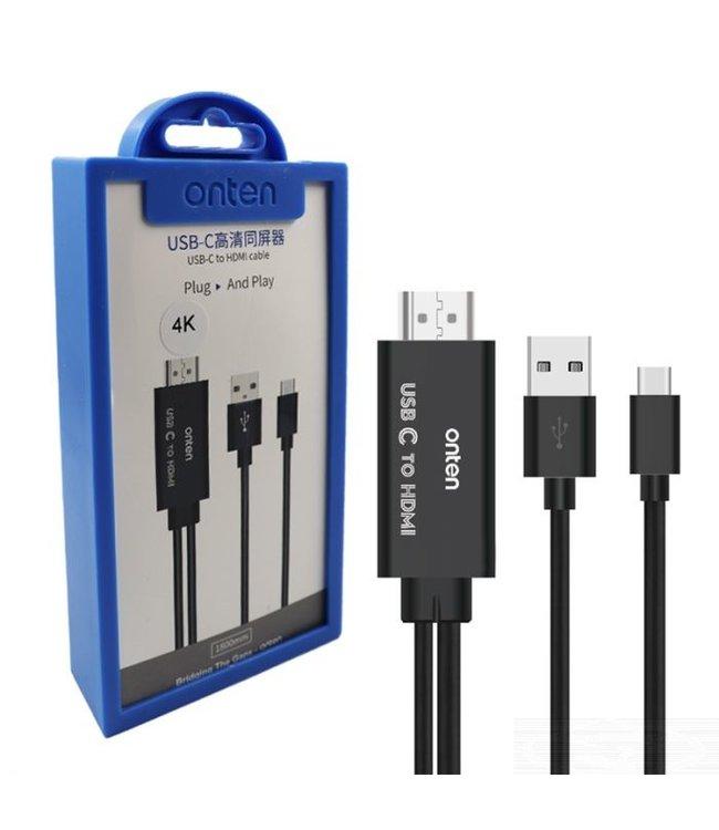 Onten USB -C Naar HDMI