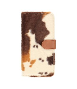 Polar Bear iPhone 12 Bookcase Koeien print Wit/Bruin