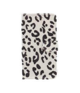 Polar Bear iPhone 11 Bookcase Luipaard Wit/Zwart