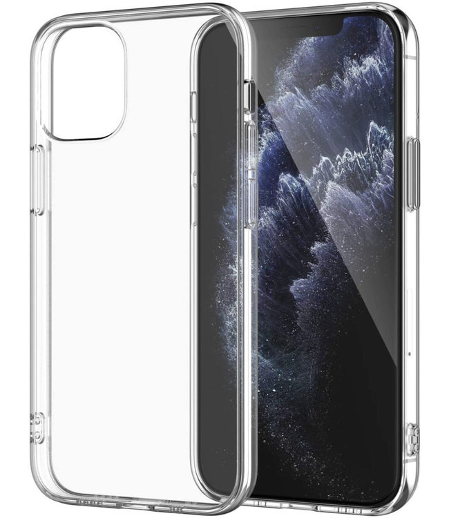 Sino Tech iPhone 12/iPhone 12 Pro Schokbestendig Hoesje Transparant
